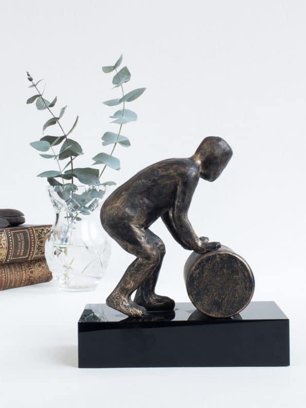 FÅ VÄRLDEN ATT FUNGERA – brons patinerad