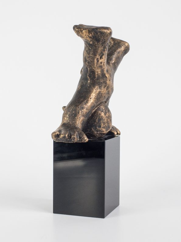 DEN MODIGA – brons patinerad