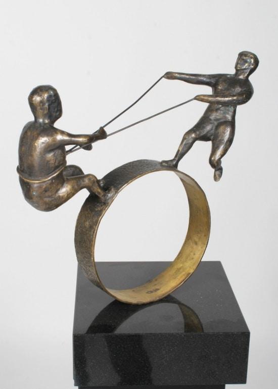 SAMARBETE – äkta brons