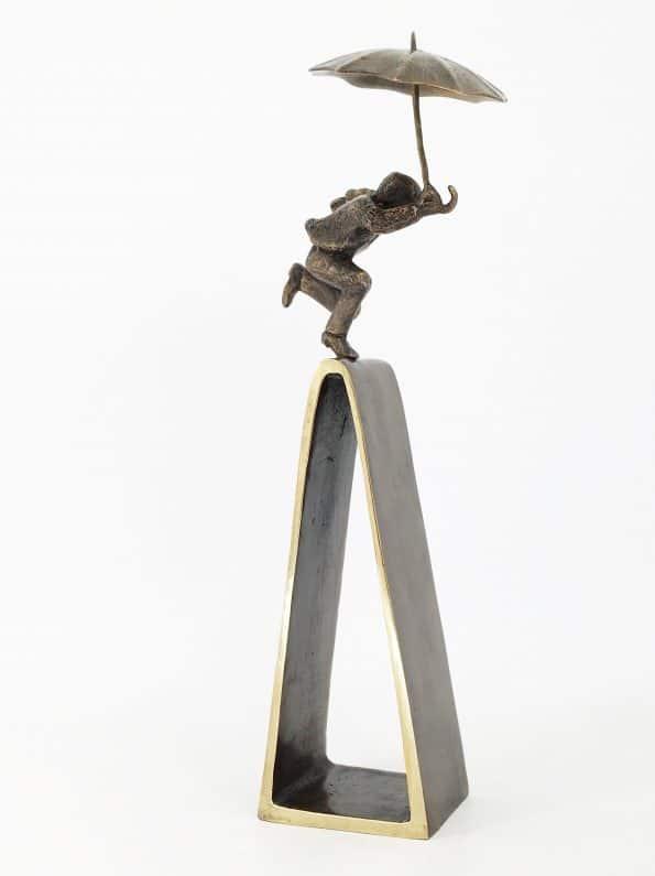 ETT MÅL ÄR NÅTT – äkta brons