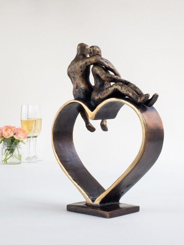 HJÄRTAN MÖTS – äkta brons