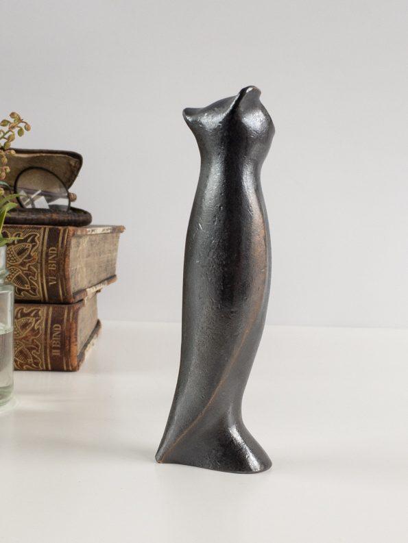 UGGLAN - VISDOM OCH INSIKT - äkta brons