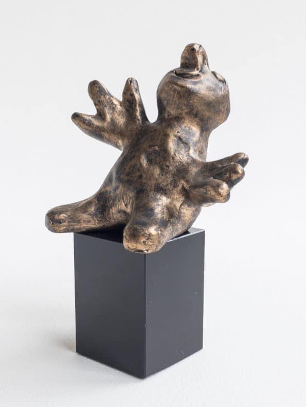 DEN NYFIKNA – brons patinerad
