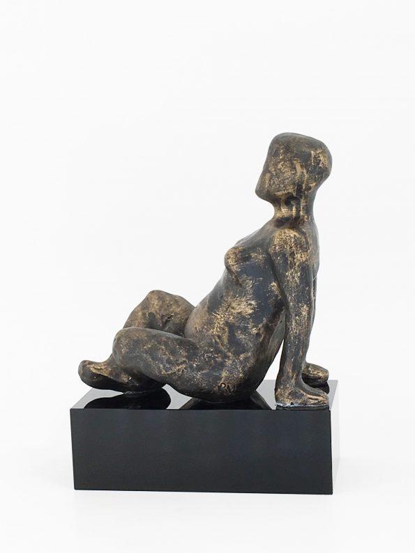 LIVSNJUTAREN– brons patinerad