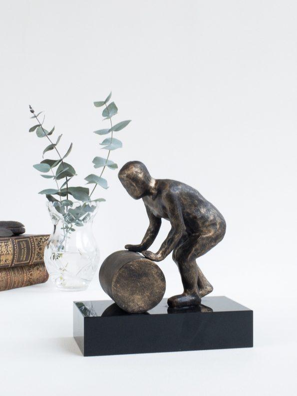 HOLDE HJULET I GANG - bronze patineret