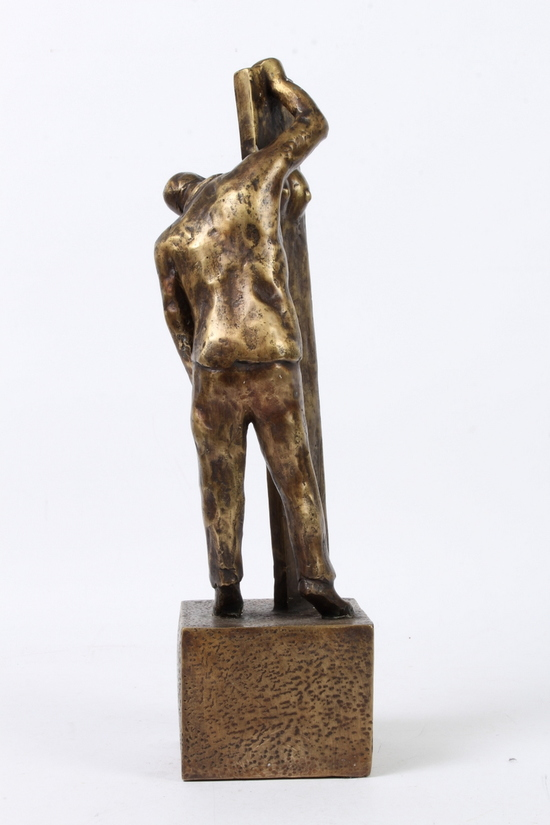 SAKEN SETT FRÅN 2 SIDOR – äkta brons. Stor utgåva