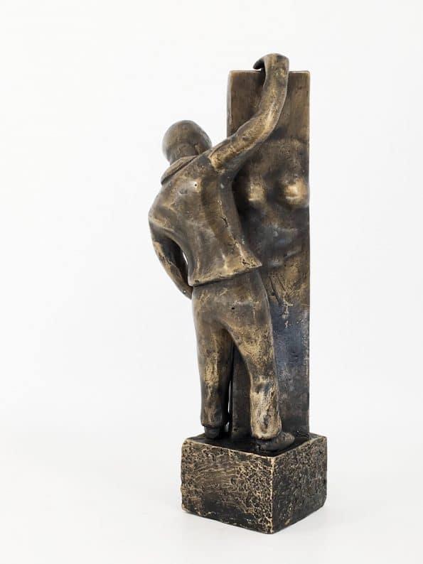SE SAKEN FRÅN TVÅ SIDOR – äkta brons