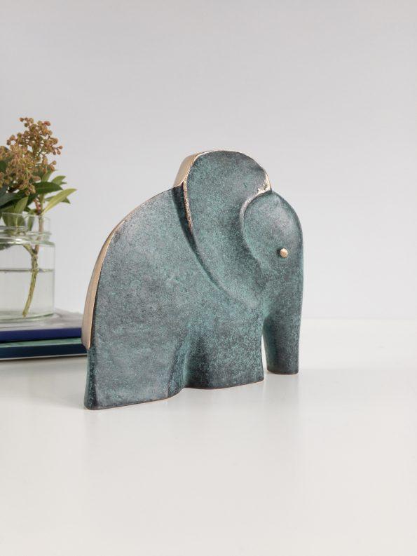 ELEFANT - STYRKA OCH VISDOM - äkta brons