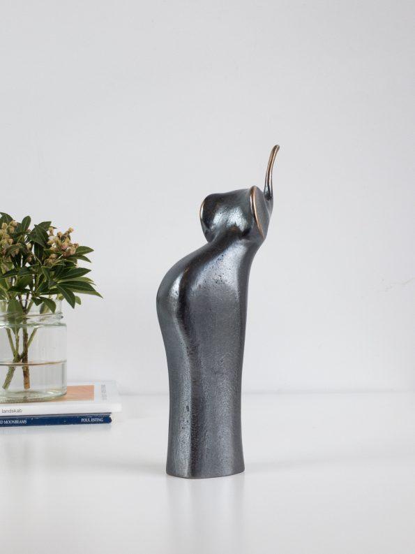 ELEFANT - mörk patina - äkta brons