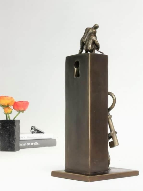 NØGLEN TIL SAMARBEJDE - ægte bronze