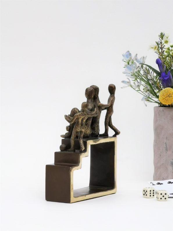 Min familj med 2 barn - äkta brons