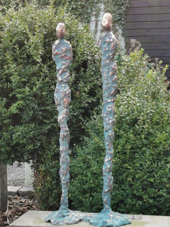 Gejserpar - äkte brons