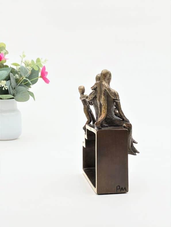 Min familj med 3 barn – äkta brons